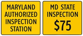 maryland state inspection banner $75